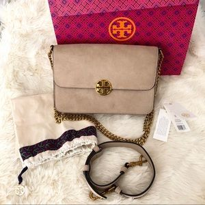 Tory Burch Convertible Suede Chelsea Bag